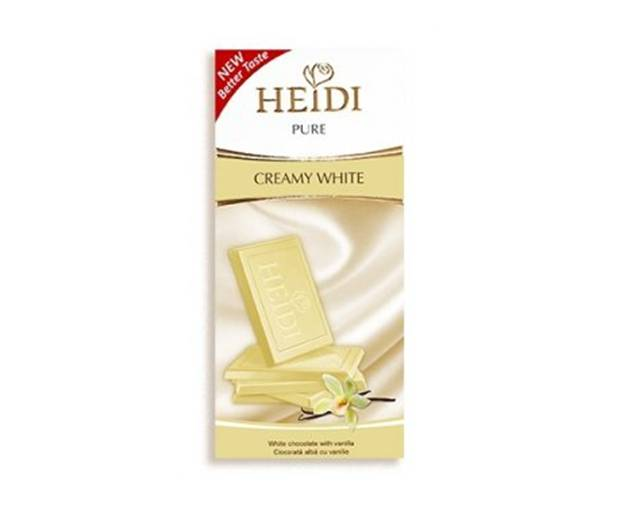 Tableta de Chocolate Blanco Heidi Pure 80 Grs
