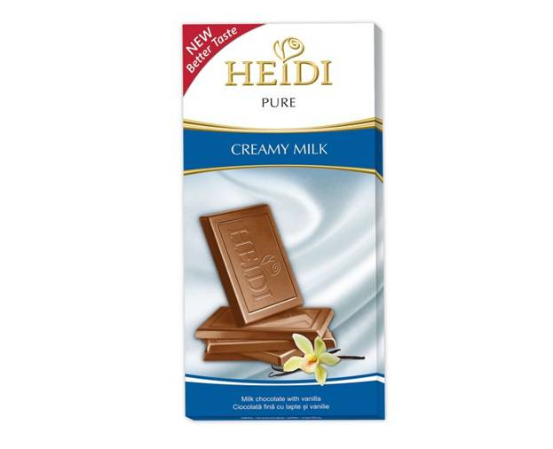 Tableta Chocolate Heidi Pure Creamy Milk 80 Grs